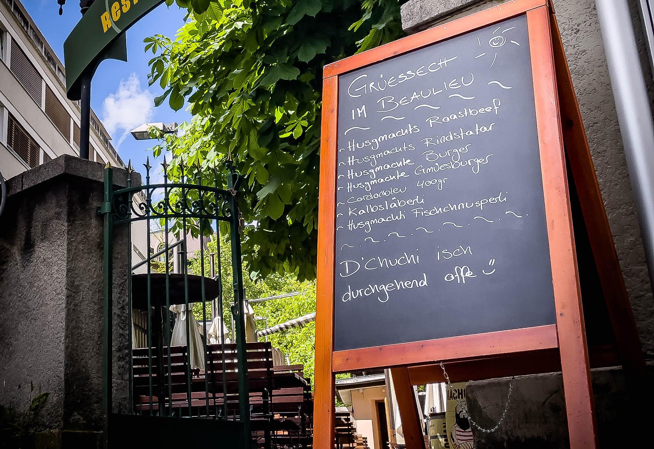 Garten Terrasse Restaurant Beaulieu Bern